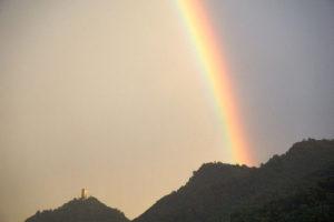 Rainbow after a summer storm